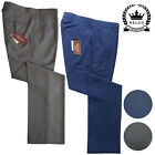 Mens Relco Tonic Sta Press Trousers Two Tone Green Blue Burgundy Stay Pressed