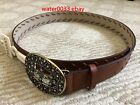 Внешний вид - Sonoma Women's Brown Faux Leather Belt New with $30 tag From Kohls Size S M L XL