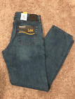 NWT LEE Regular Fit Straight Leg 'Wylie' Blue Jeans Non Stre