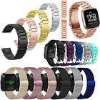 Metal Stainless Steel/Soft Silicone Replacement Wristband For Fitbit Versa Watch image