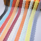 Hot  10 yards Lace Ribbon Width 14MM Trim Fabric Embroidered For Sewing