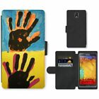 Phone Card Slot PU Leather Wallet Case For Samsung Andy Warhol Hands drawing