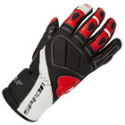 Spada Burnout Black Red Leather Sport Motorcycle Gloves New