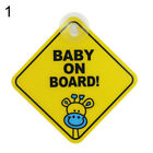Baby on Board Car Warning Safety Suction Cup Sticker Waterproof Notice Board New