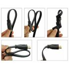 1 / 2 / 3 / 10 Meter Flat HDMI High Speed Ethernet Cable Gold HDTV PS3 ARC 3D
