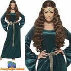 Medieval Maid Marion Robin Hood Maiden Green Womens Ladies Fancy Dress Costume