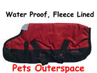 WaterProof Fleece Lined Dog Rug Ripstop Coat Lge - XL 60, 65, 70, 75cm Rainproof