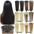 130g 24inch 7Clips in Hair Extensions Hairpieces One Piece Only Elasticity Net