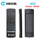MX3 Pro Air Mouse Russian/English Backlit Voice Mini Wireless Keyboard Remote R
