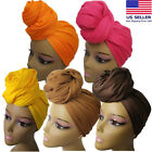 Внешний вид - Compy Stretch Long Black Head Wrap African Hair Head Scarf Tie Multi Color 1pcs