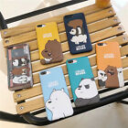 Cute Colorful Korean Style We Bare  Bears iPhone X case