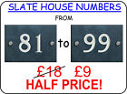 Slate House Sign Number 81 to 99