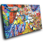 ZAB1279 Colourful Retro Cool Modern Canvas Abstract Wall Art Picture Prints