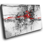 AB446 Red Grey Black Cool Modern Abstract Canvas Wall Art Large Picture Prints