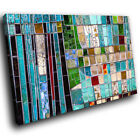 AB1198 green red blue Modern Retro Abstract Canvas Wall Art Large Picture Prints
