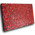 AB1580 Red Grey Cool Funky Modern Abstract Canvas Wall Art Large Picture Prints