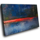 AB1649 Blue Red Retro Cool Modern Abstract Canvas Wall Art Large Picture Prints