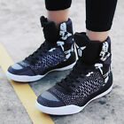 Mens Basketball Shoes Outdoor Sports Sneakers High Top Shock Absorbing Athletic