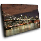 SC005 Brooklyn Bridge New York Landscape Canvas Wall Art Large Picture Prints