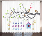 Home Sweet Home Curtains 2 Panel Set for Decor 5 Sizes Window Drapes
