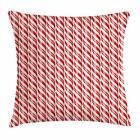 Candy Cane Throw Pillow Cases Cushion Covers by Ambesonne Home Decor 8 Sizes
