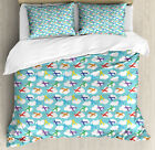 FixedPricenursery airplane duvet cover set twin queen king sizes with pillow shams