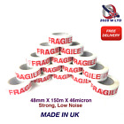 FRAGILE PARCEL PACKING TAPE - 48mm*150m*46mic (STRONG, LONG, LOW NOISE)