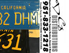 DIY CALIFORNIA Legacy License Plates CADILLAC