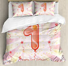 birthday cakes for twins first birthday - 1st Birthday Duvet Cover Set Twin Queen King Sizes with Pillow Shams
