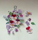 x 6 SETS TATTERED LACE CHARISMA 250gsm DIE CUTS - PANSY 10 Colours/Mixed