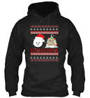 Casual Bichon Frise Ugly Christmas Sweater Merry Gildan Hoodie Sweatshirt