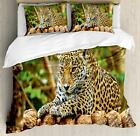 Zoo Duvet Cover Set Twin Queen King Sizes with Pillow Shams Ambesonne