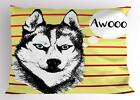 Alaskan Malamute Pillow Sham Decorative Pillowcase 3 Sizes Bedroom Decor