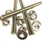 M5 A4 MARINE STAINLESS Threaded Bar + FULL NUTS + WASHERS - Rod Studding 5mm