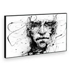 BF2AB193P Black White Face Cool Modern Abstract Framed Wall Art Picture Prints