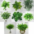 Artificial Plants Fake Leaf Foliage Bush Home Office Indoor Outdoor Garden Decor