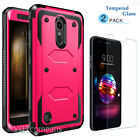 For LG K30 Hybrid Phone Case Cover With Kickstand Holster Clip+Screen Protector