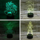 Dragon Ball Z Son Goku 3D LED Night Light Touch Table Desk Lamp 7 Colors Change