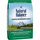 Natural Balance Dry Dog Food - Lamb Meal & Brown Rice Formula 28lb