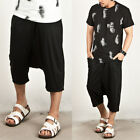 NewStylish Mens Casual Fashion Pants Avant-garde Deep Baggy Capri Sweatpants
