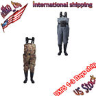 Men's Waterproof  Fly Fish Waders Breathable Chest Wader+Stocking Shoes