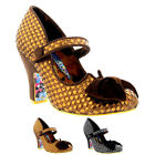 Womens Irregular Choice Fancy This Party High Heel Strappy Court Shoe UK 3.5-8.5