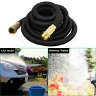 25 50 75 FEET Expanding Flexible Water Hose Home Garden Hose Watering Pipe BLK