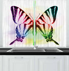 """Swallowtail Butterfly Kitchen Curtains 2 Panel Set Window Drapes 55"""" X 39"""""""