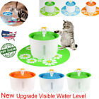 Automatic Home Cat Dog Water Drinking Flower Fountain Bowl Drink Dish Filter US