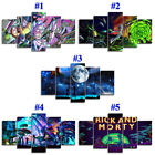 Rick and Morty Collection 5 Panels Canvas HD Print Painting Wall Art Home Decor