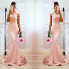 UK Womens Ladies Gown Prom Ball Evening Party Wedding Bridesmaid Long Maxi Dress