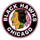 Chicago Blackhawks NHL Hockey Round  Car Bumper Sticker Decal - 3'' or 5'' $3.75 USD on eBay