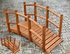 AFK Oriental Wooden Garden Bridge Small or Large Luxury Decked Beech Stain