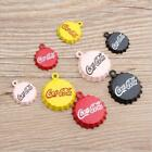 XL003# 10Pcs Enamel Alloy Coca-Cola Cap Pendant DIY Bracelet Earring Ornament £3.02  on eBay